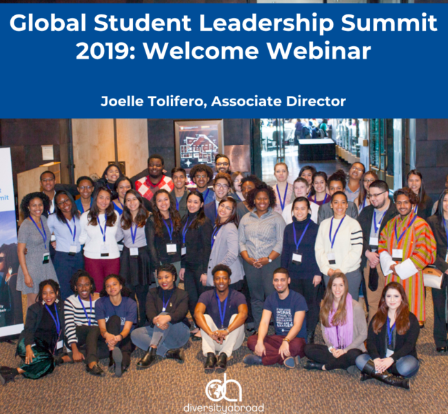 About the Global Student Leadership Summit | 2020 Diversity Abroad